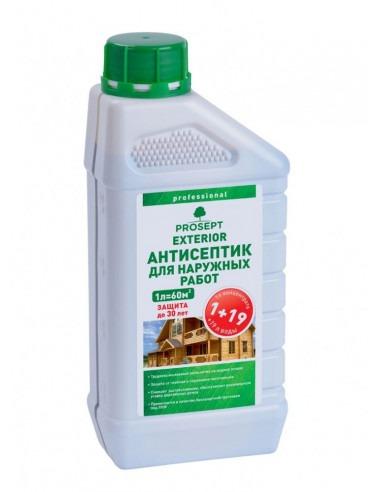 PROSEPT EXTERIOR - антисептик для наружных работ концентрат 1:19, 5 литров