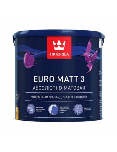 Краска Тиккурила Евро Мат 3 - Tikkurila Euro 3 (9л)