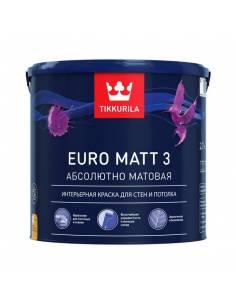 Tikkurila Euro 3 / Тиккурила Евро 3 глубоко матовая латексная