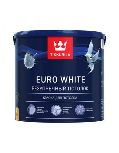 Краска Tikkurila Euro White / Тиккурила Евро Уайт (9л)