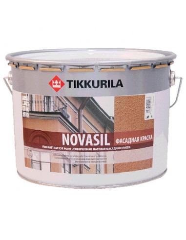 Краска силиконовая Tikkurila Novasil влагостойкая 9л