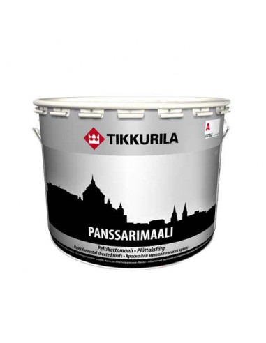 Краска для крыш Tikkurila Панссаримаали - Panssarimaali, база А, 9л