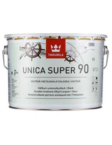 Лак Тиккурила Уника Супер - Tikkurila Unica Super 90, Яхтный лак, глянцевый, 9л.