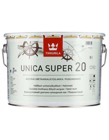 Лак Тиккурила Уника Супер - Tikkurila Unica Super 20, Яхтный лак, полуматовый, 9л.
