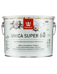 Лак Тиккурила Уника Супер - Tikkurila Unica Super 60, Яхтный лак, полуглянцевый, 9л.