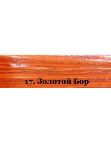 Декоративная пропитка для дерева Veres Platinum Lazura №17, 9 л, золотой бор
