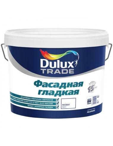 Краска акриловая Dulux Diamond Фасадная Гладкая влагостойкая матовая бесцветный 9л база BС