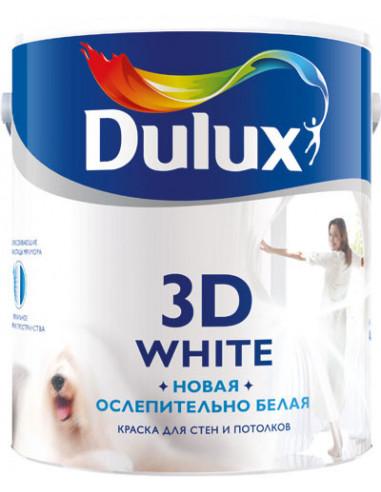 Краска латексная Dulux 3D White моющаяся матовая 2.5л