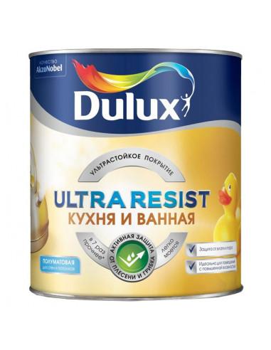 Краска латексная Dulux Ultra Resist Кухня и ванная влагостойкая моющаяся полуматовая 2.5л