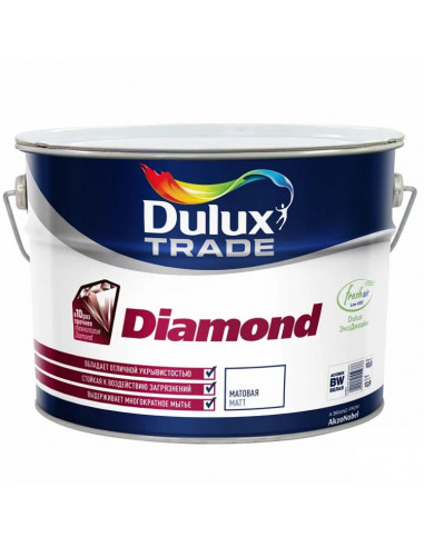 Краска Dulux Diamond Matt / Дюлакс Диамонд Мат 5л, база BW
