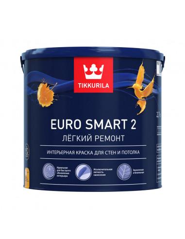 Краска Тиккурила Евро Смарт 2 - Tikkurila Euro Smart 2, 9л