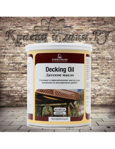 Датское масло Борма - Deckig Oil, Danish OIL, полуматовое, 1л.