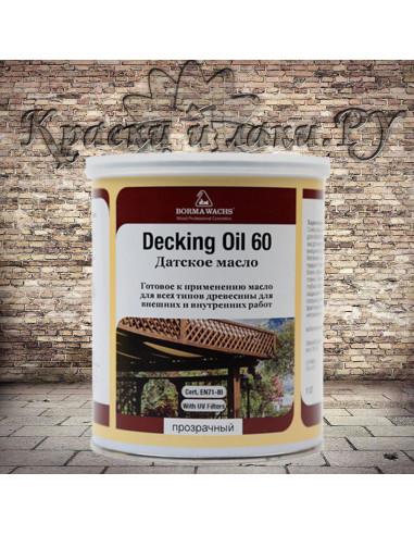 Датское масло Борма - Deckig Oil, Danish OIL, полуглянец, 1л.