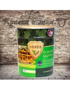 Пропитка для дерева Верес Классик Лазура - Veres Classic Lazura 9л Темный дуб