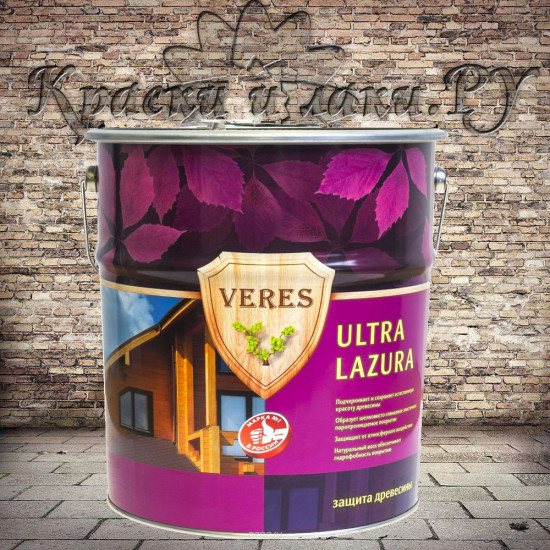 Пропитка Верес Ультра Лазурь - Veres Ultra Lazura, Темный дуб, 10л.