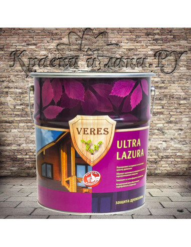 Пропитка Верес Ультра Лазурь - Veres Ultra Lazura, Палисандр, 20л.