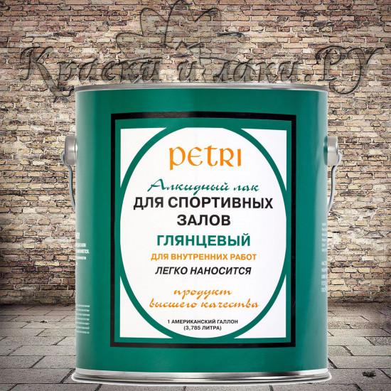 Лак Петри Спар Гум для спортзалов Petri Spar Gym, глянцевый (3.8л)