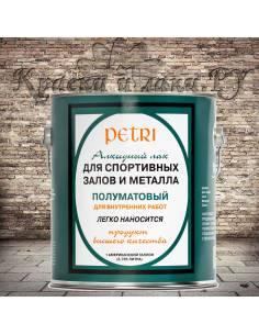 Лак Петри Спар Гум для спортзалов Petri Spar Gym, полуматовый, 3.8л