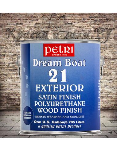 Лак на водной основе Petri Dream Boat 21 Exterior полуматовый, 3.78 л.