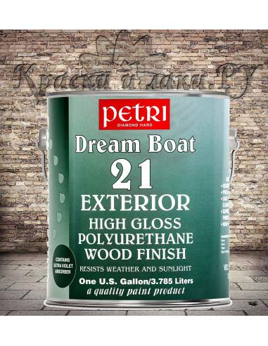 Лак на водной основе Petri Dream Boat 21 Exterior глянцевый, 3.78 л.