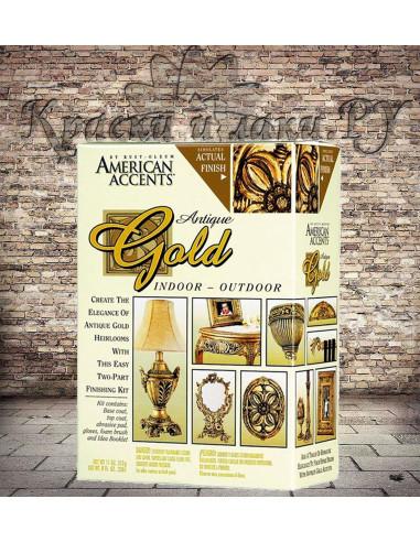 Краска с эффектом Античное золото Antique Gold Kit, American Accents