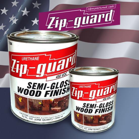 Уретановый лак URETHANE WOOD FINISH Zip-Guard полуматовый (3.785 л)