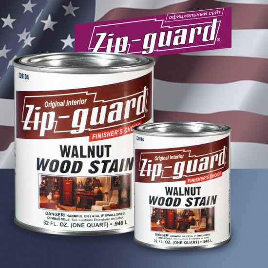 Морилка ORIGINAL TRANSPARENT OIL-BASED WOOD STAIN Zip-Guard Темный орех (0.946 л)