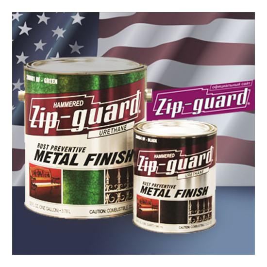 ZIP-GUARD краска по металлу Metal Finish Hammered молотковый серебристо серый (3.785 л)
