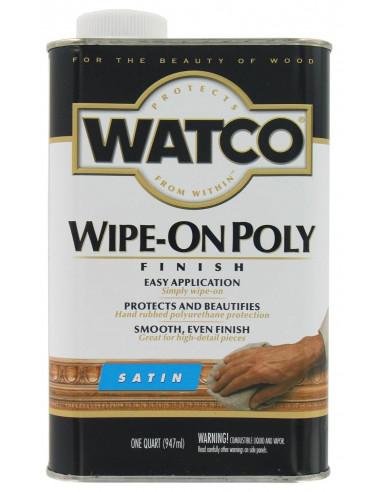 WATCO Wipe-On Poly Полироль для дерева, полуматовый (0.946л)