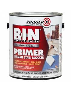 Грунт блокирующий пятна и запахи Zinsser B-I-N Advanced Synthetic Shellac Primer White (3.78л)