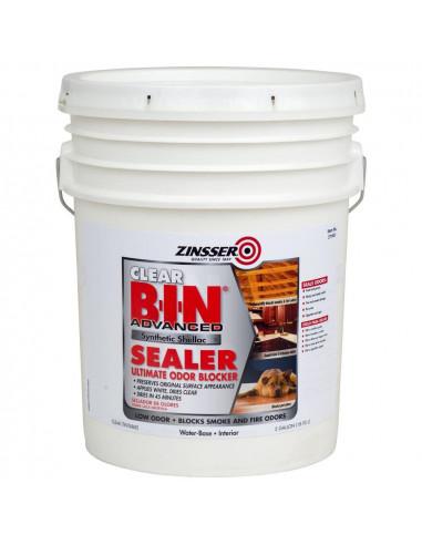 Грунт блокирующий пятна и запахи Zinsser B-I-N Advanced Synthetic Shellac Sealer Clear (18.9л)