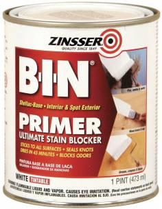 Грунт блокирующий пятна и запахи Zinsser B-I-N Advanced Synthetic Shellac Primer White (0.946л)