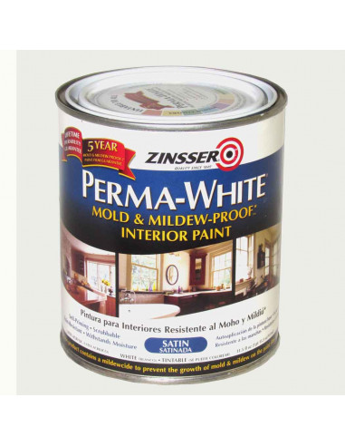 Краска Zinsser PERMA-WHITE Mold & Mildew-Proof Interior Paint, матовая (3.78л)