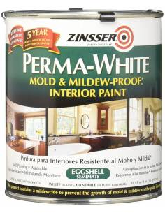 Краска Zinsser PERMA-WHITE Mold & Mildew-Proof Interior Paint, яичная скорлупа (3.78л)