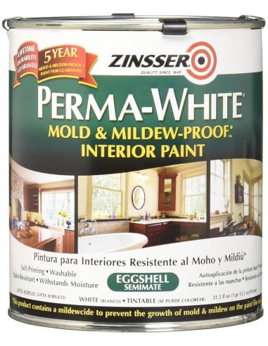 Краска Zinsser PERMA-WHITE Mold & Mildew-Proof Interior Paint, яичная скорлупа (3.78л)