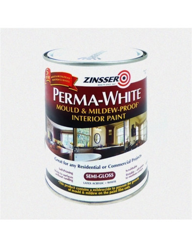 Краска Zinsser PERMA-WHITE Mold & Mildew-Proof Interior Paint, полуглянцевый (3.78л)