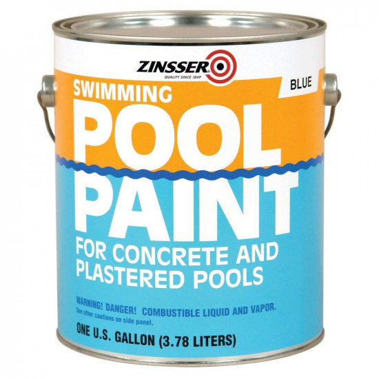 Краска для бассейна Zinccer Swimming Pool Paint, 3.78л голубой