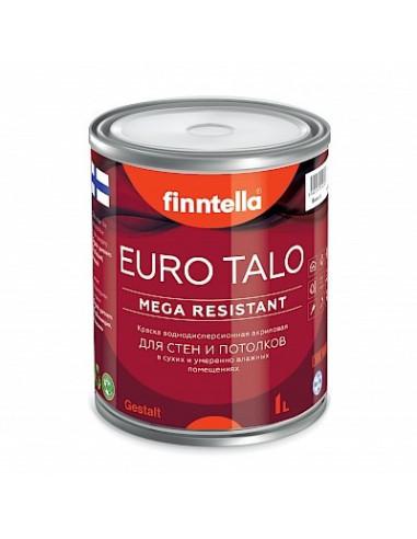 Краска Finntella EURO TALO для стен и потолков матовая, База А 2,7л