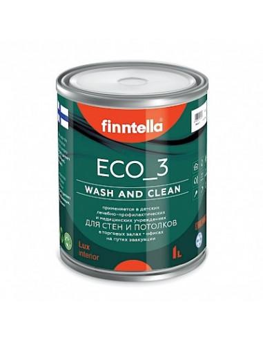 Краска Finntella ECO_3 моющаяся матовая, База А 2,7л