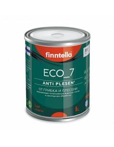 Краска Finntella ECO_7 AntiPLESEN от плесени шелковисто-матовая, База А 2,7л