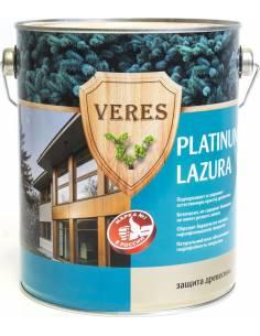 Декоративная пропитка для дерева Veres Platinum Lazura №12, 9 л, белая