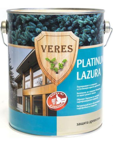 Декоративная пропитка для дерева Veres Platinum Lazura №2, 9 л, сосна