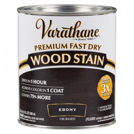Масло для дерева Varathane Fast Dry Wood Stain (0.946) Эбеновое дерево
