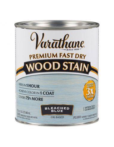 Морилка масляная Varathane Fast Dry Wood Stain (0.946л) Выбеленный голубой