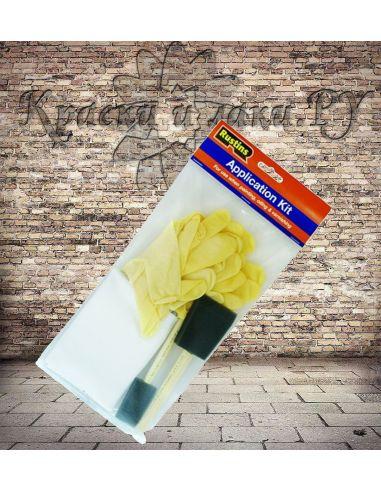 Набор для нанесения масел Application Kit Rustins (2 кисти 2 ткани 6 перчаток)