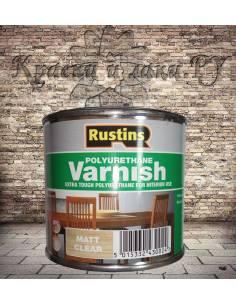 Полиуретановый лак Poly Varnish Rustins Matt Clear Матовый 250мл