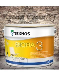 Краска акриловая TEKNOS Biora 3 матовая 9л