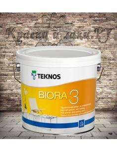 Краска Teknos Biora 3 (Биора 3) 2,7л.