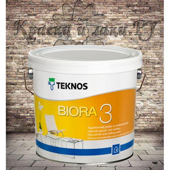 Краска акриловая TEKNOS Biora 3 матовая 2,7л