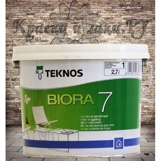 Краска Teknos Biora 7 (Биора 7) 2.7л.